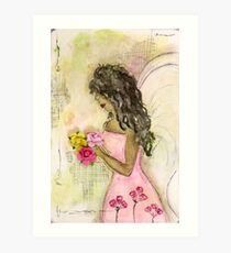 Angel of Encouragement, African American, Latina, Angel Art Print