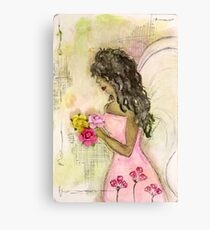 Angel of Encouragement, African American, Latina, Angel Canvas Print