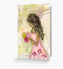 Angel of Encouragement, African American, Latina, Angel Greeting Card