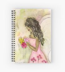 Angel of Encouragement, African American, Latina, Angel Spiral Notebook