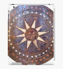 ancient greek wooden sun iPad Case/Skin