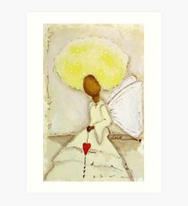 Angel of Love Again, African American, Latina Art Print