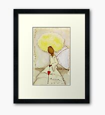 Angel of Love Again, African American, Latina Framed Print