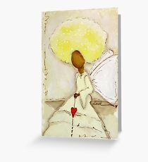 Angel of Love Again, African American, Latina Greeting Card