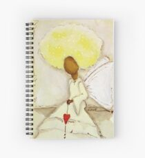 Angel of Love Again, African American, Latina Spiral Notebook