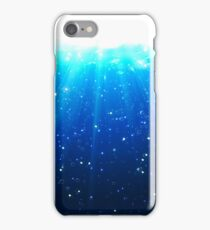 Deep Water Bubbles Dark Blue Color Illuminated By Rays Of Light iPhone Case/Skin