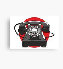 Classic telephone Canvas Print