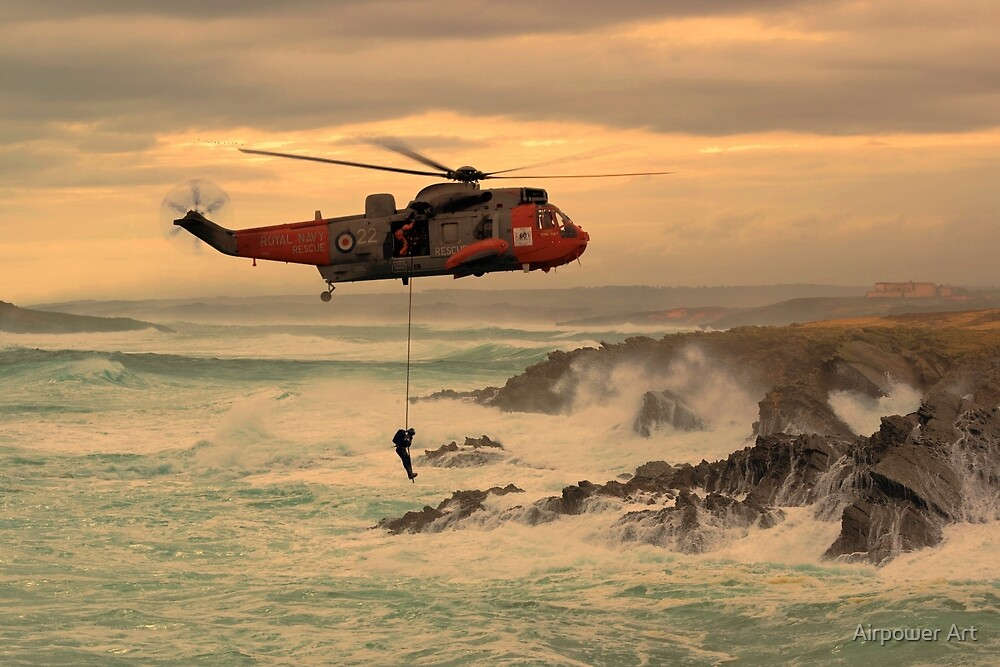 Royal Navy Rescue  by Airpower Art