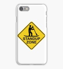Standup Paddleboarding Zone Road Sign iPhone Case/Skin