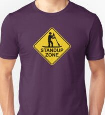 Standup Paddleboarding Zone Road Sign Unisex T-Shirt