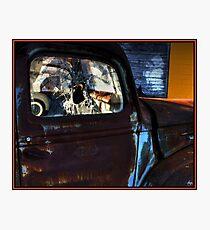 Rust on Blue Photographic Print