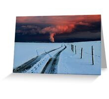 Sunset clouds above Switzerland Greeting Card
