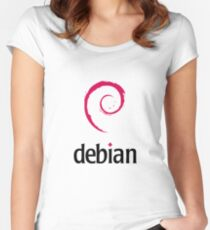 Debian LINUX Women's Fitted Scoop T-Shirt