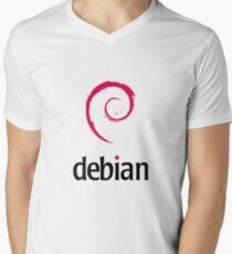 Debian LINUX Men's V-Neck T-Shirt