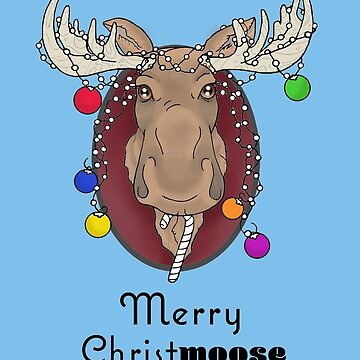 Merry Christmoose by ladygabe