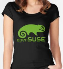 openSUSE LINUX Women's Fitted Scoop T-Shirt