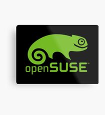 openSUSE LINUX Metal Print