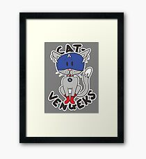 Cap' Cat Framed Print