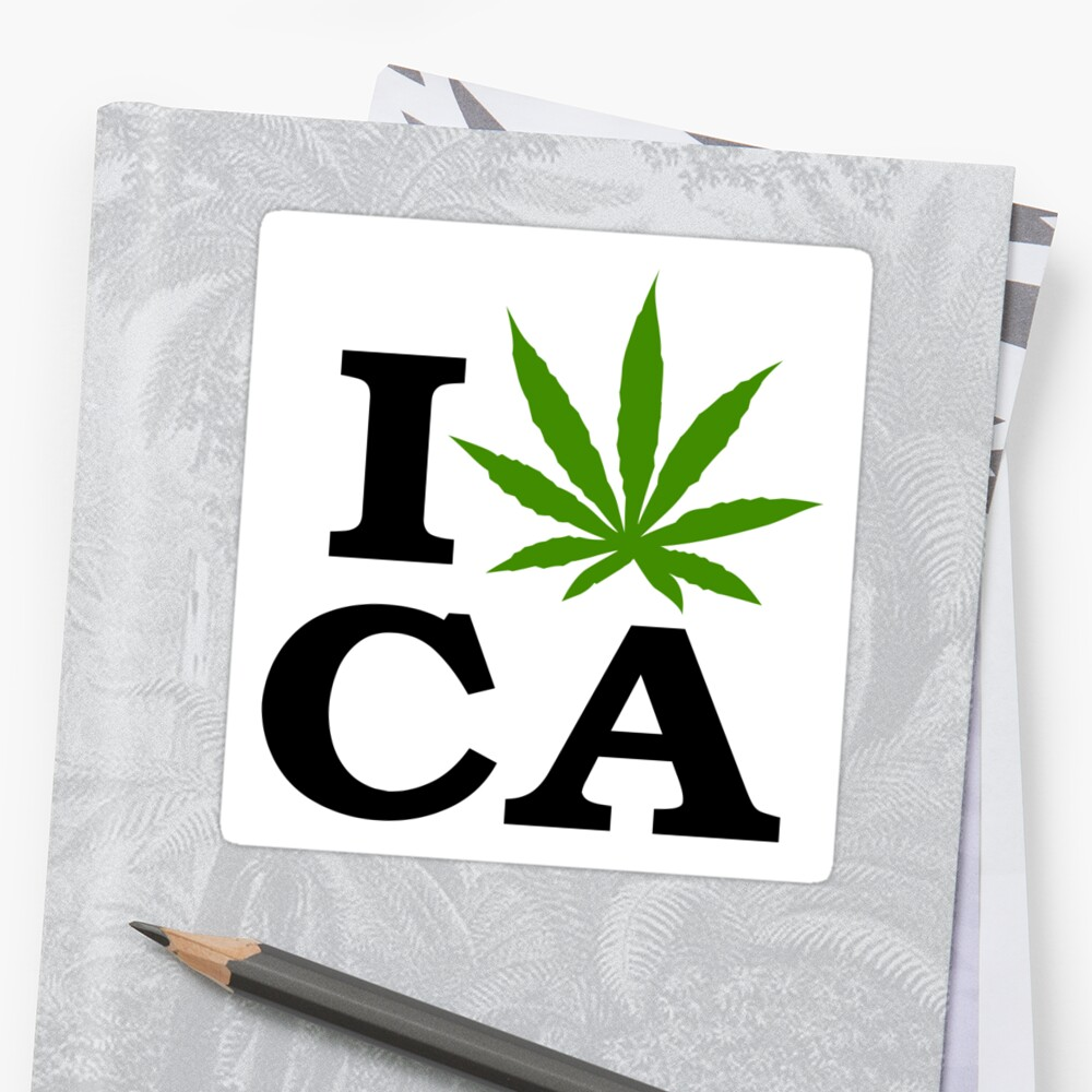 I Love Marijuana California Cannabis by MarijuanaTshirt