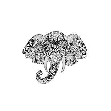 Pattern Elephant by ladygabe