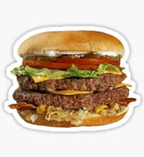 Double Cheese Burger Sticker