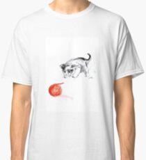 Cat and wool cats poster, sumi-e art print Classic T-Shirt