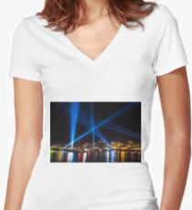 Articulated Intersect 2 Women's Fitted V-Neck T-Shirt
