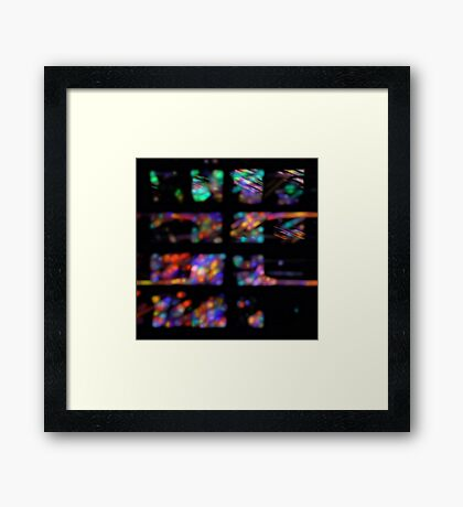 Apophysial Abstract 071111.3 Framed Print