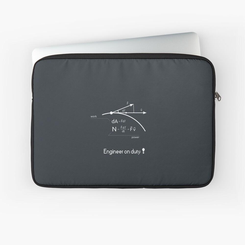 Engineer work = power ! Laptop Sleeve