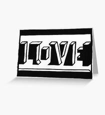 Love Schwarz Weiss Greeting Card
