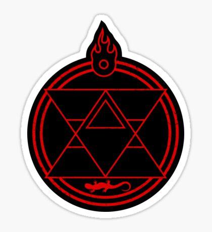 Flame Transmutation Circle - On black Sticker