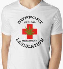Support Medical Marijuana Legislation Mens V-Neck T-Shirt