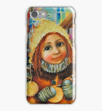 Girl with a sparrow iPhone Case/Skin