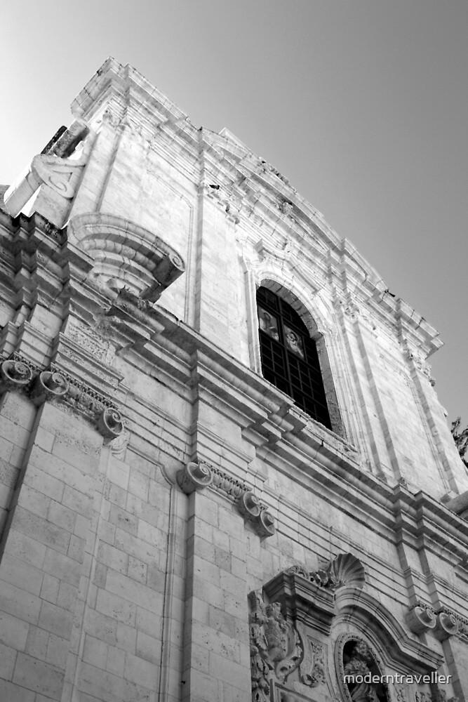 Monochrome church facade, Puglia by moderntraveller