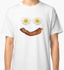 Bacon And Eggs Smiley Face Morning Breakfast Classic T-Shirt