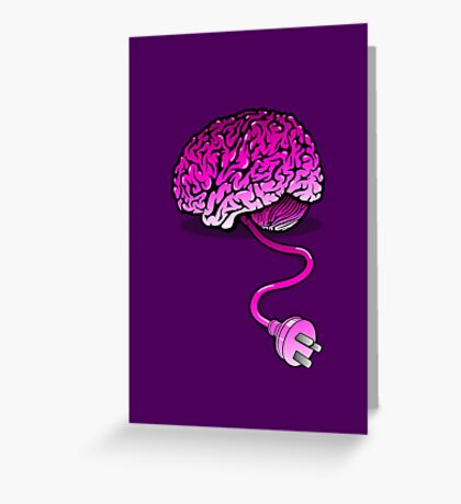 Your Brain without Coffee - Pink Greeting Card