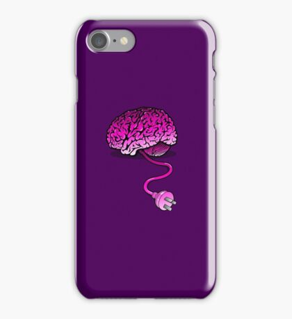 Your Brain without Coffee - Pink iPhone Case/Skin