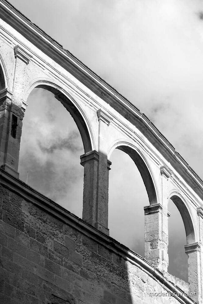 Monochrome coliseum arches, Puglia by moderntraveller