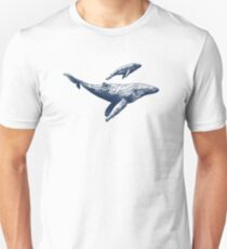 Whale and Calf  Unisex T-Shirt