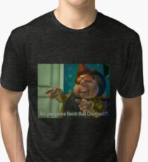 Are you gonna finish that Croissant? Tri-blend T-Shirt