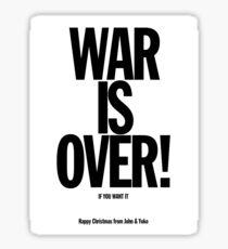 War is Over Sticker
