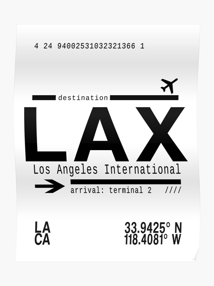 LAX Los Angeles International Airport | Poster
