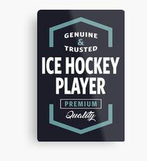 Ice Hockey Player Logo Tees Metal Print