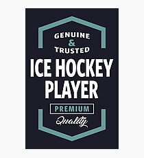 Ice Hockey Player Logo Tees Photographic Print