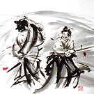 Japanese ideas for home, samurai art print for sale by Mariusz Szmerdt