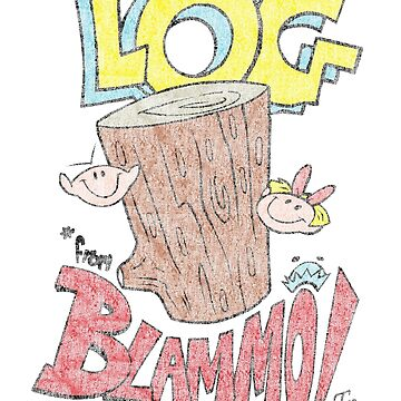 Log by Blammo (Retro Distressed Look). by Winxamitosis