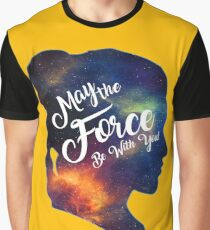 May the Force be With You - Carrie Fisher -Princess Leia Tribute Shirt Graphic T-Shirt