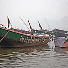 Foggy Ganges Morning by phil decocco