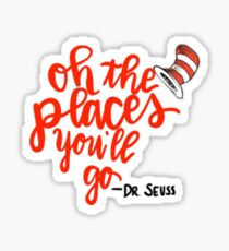 Oh the Places You'll Go Sticker