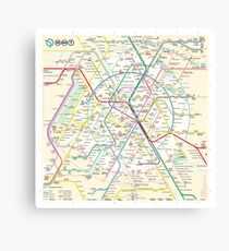 Paris Metro Map Wall Art Redbubble - Paris metro map print